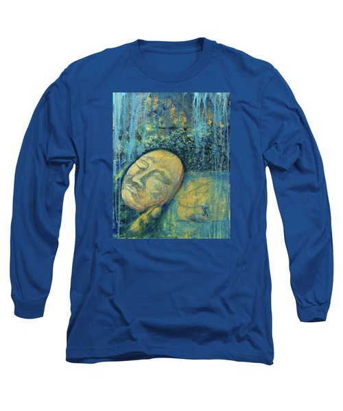 Ace Of Coins Long Sleeve T-Shirt by Ashley Kujan