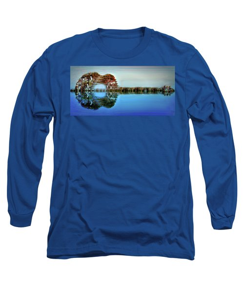 Long Sleeve T-Shirt featuring the digital art Acoustic Guitar At Gordon's Pond by Bill Swartwout