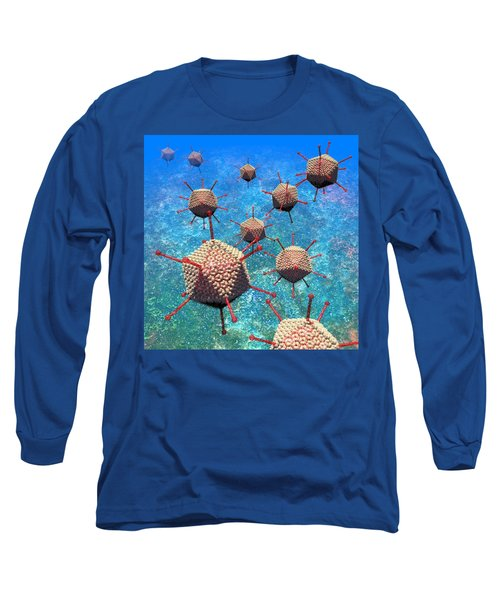 Adenovirus Particles 3 Long Sleeve T-Shirt