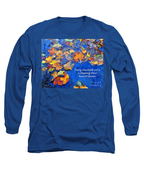 Long Sleeve T-Shirt featuring the photograph Adironack Laughing Water Charity by Diane E Berry