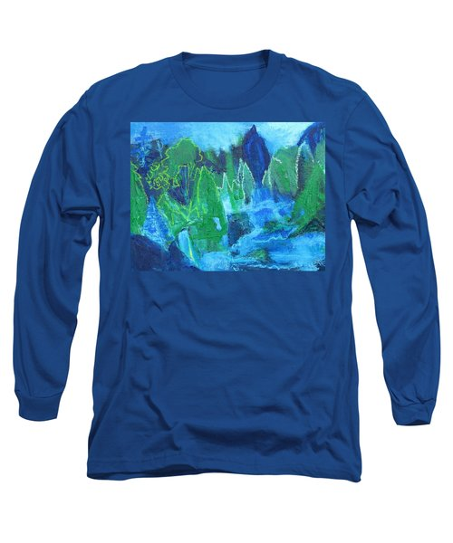 Long Sleeve T-Shirt featuring the painting Adirondack Spring by Betty Pieper