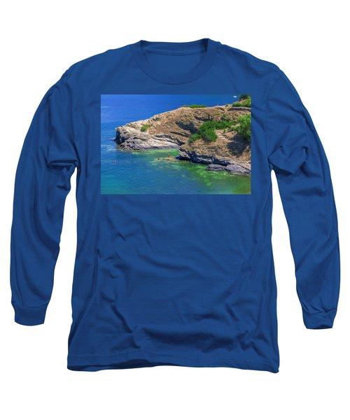 Aegean Coast In Bali Long Sleeve T-Shirt