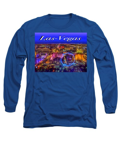 Aerial Las- Vegas Evening Long Sleeve T-Shirt