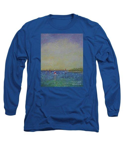 Afternoon Sailing Long Sleeve T-Shirt by Gail Kent