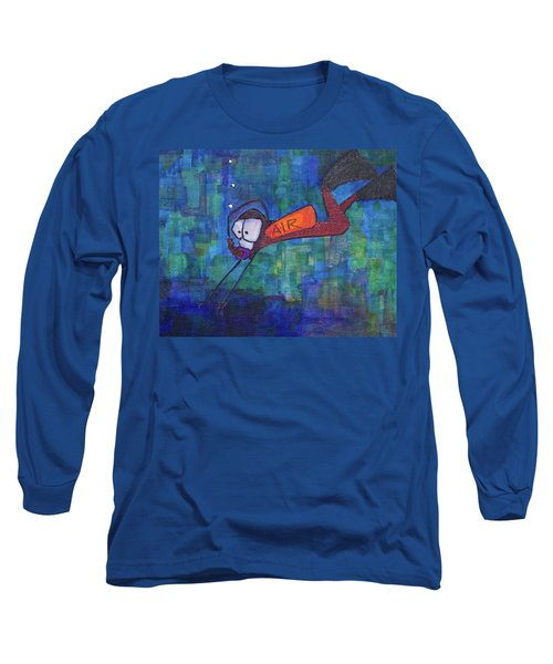 Long Sleeve T-Shirt featuring the painting air by Donna Howard