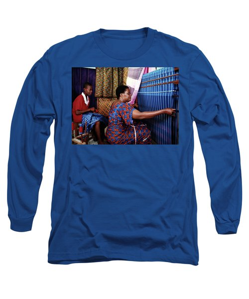 Akwete Weaving Long Sleeve T-Shirt