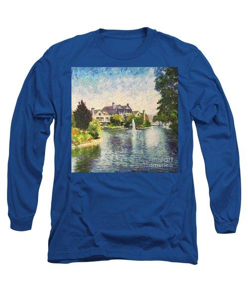 Alameda Marina Village 1 Long Sleeve T-Shirt by Linda Weinstock