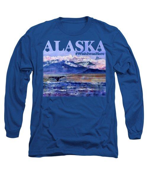 Alaskan Landscape On Water Shirt Long Sleeve T-Shirt