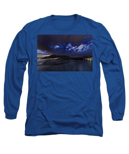 Albenga Alassio Coast Sunset With Clouds... Long Sleeve T-Shirt