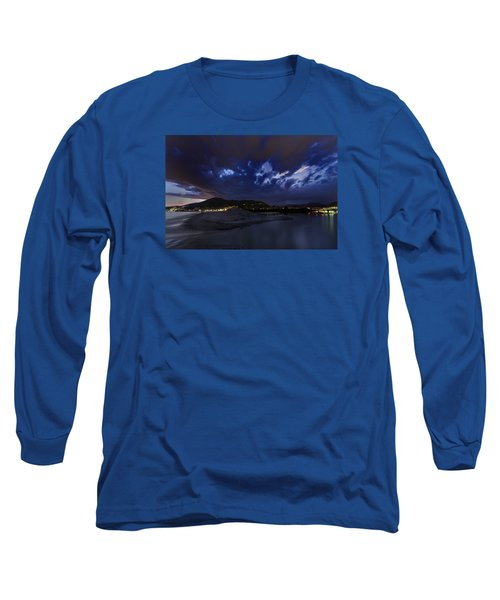 Albenga Alassio Coast Sunset With Clouds... Long Sleeve T-Shirt