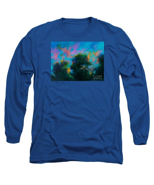 Long Sleeve T-Shirt featuring the painting Alison's Dream Time  by Alison Caltrider