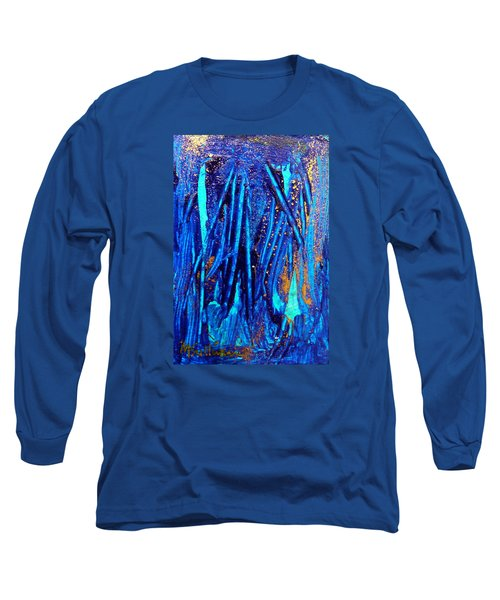 Long Sleeve T-Shirt featuring the painting Alll That Glitters by Mary Sullivan