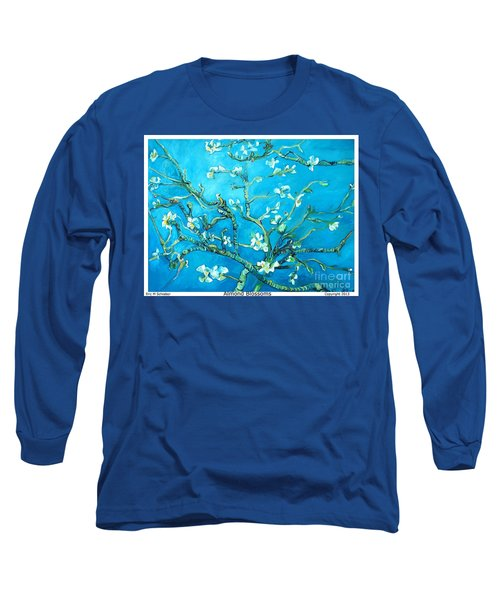 Almond Blossom Long Sleeve T-Shirt by Eric  Schiabor