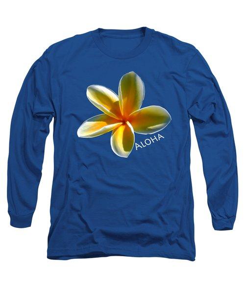Aloha Plumeria Long Sleeve T-Shirt