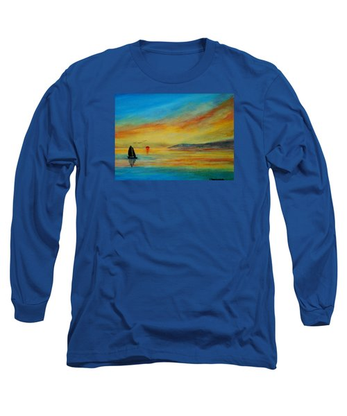 Alone In Winter Sunset Long Sleeve T-Shirt