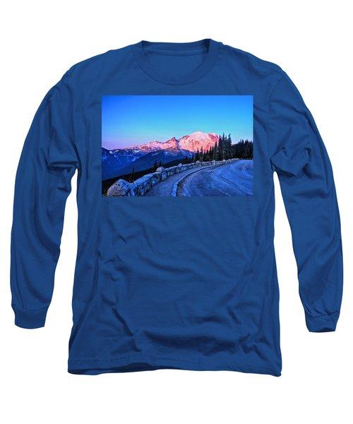 Alpenglow At Mt. Rainier Long Sleeve T-Shirt