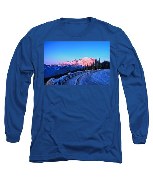 Alpenglow At Mt. Rainier Long Sleeve T-Shirt