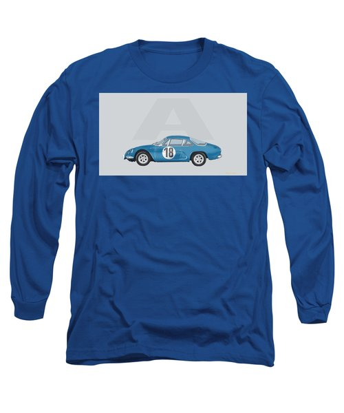 Long Sleeve T-Shirt featuring the mixed media Alpine A110 by TortureLord Art