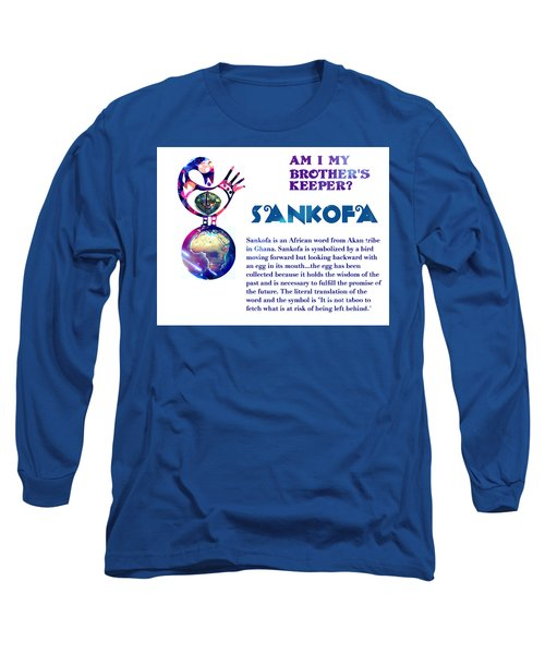 Am I My Brother's Keeper? Aqua Long Sleeve T-Shirt