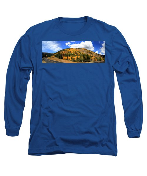 An Autumn Drive - Panorama Long Sleeve T-Shirt