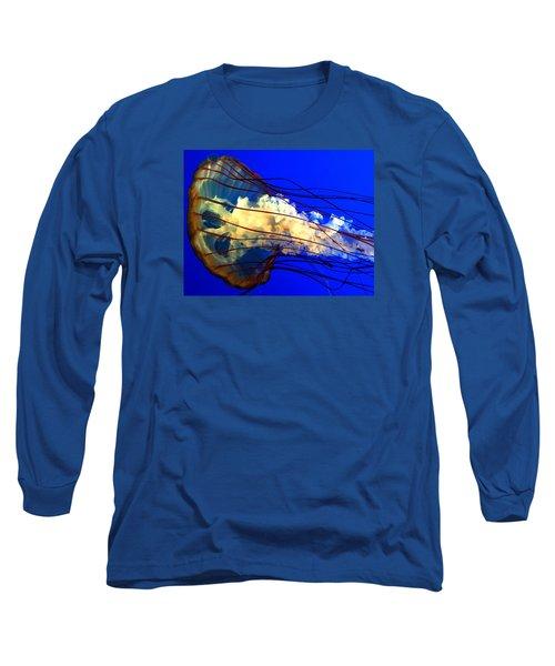 Anatomy Of Sea Nettle Long Sleeve T-Shirt by Kruti Shah