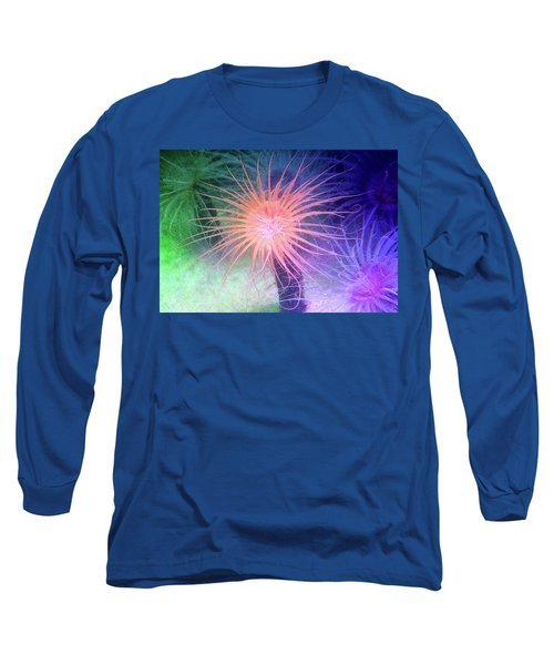 Long Sleeve T-Shirt featuring the photograph Anemone Color by Anthony Jones