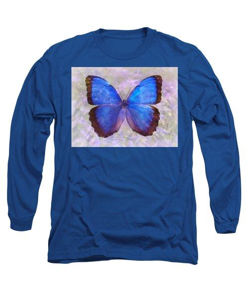 Angel In Blue Long Sleeve T-Shirt