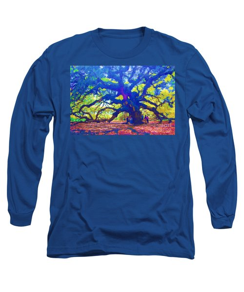 Long Sleeve T-Shirt featuring the photograph Angel Oak Tree by Donna Bentley