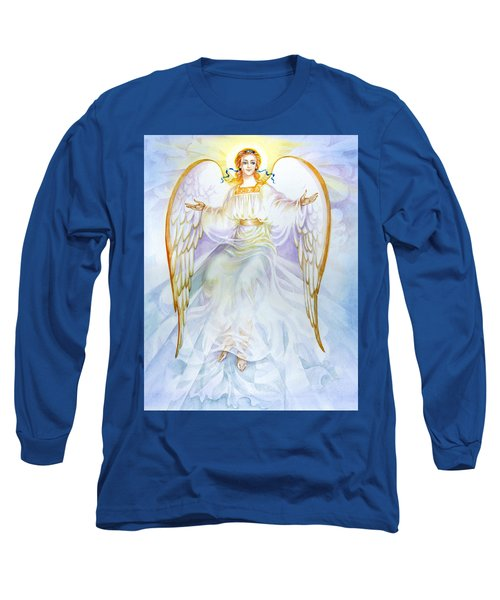 Angel Of Grace Long Sleeve T-Shirt by Karen Showell