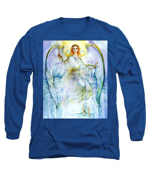 Angel Of Love Long Sleeve T-Shirt by Karen Showell