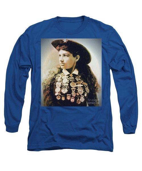 Annie Oakley - Shooting Legend Long Sleeve T-Shirt