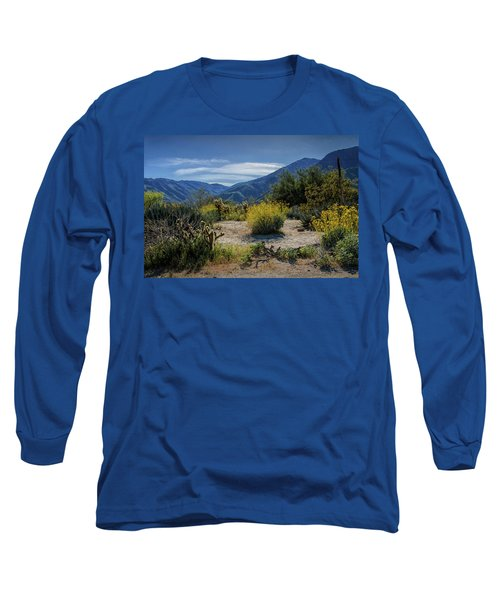 Long Sleeve T-Shirt featuring the photograph Anza-borrego Desert State Park Desert Flowers by Randall Nyhof