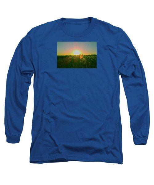 Long Sleeve T-Shirt featuring the photograph April Sunrise by Anne Kotan
