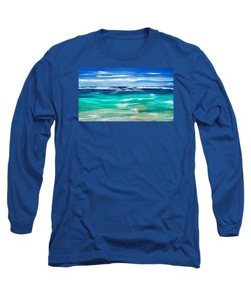 Aqua Waves Long Sleeve T-Shirt
