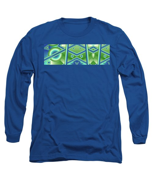 Long Sleeve T-Shirt featuring the digital art Aquamarine by Ron Bissett