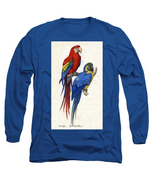 Aracangua And Blue And Yellow Macaw Long Sleeve T-Shirt