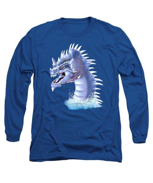 Arctic Ice Dragon Long Sleeve T-Shirt by Glenn Holbrook