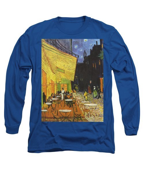 Arles Cafe Terrace At Night Long Sleeve T-Shirt
