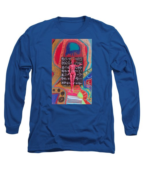 Long Sleeve T-Shirt featuring the painting Arnica Herbal Tincture by Clarity Artists