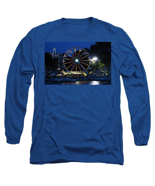 Arnolds Park At Night Long Sleeve T-Shirt