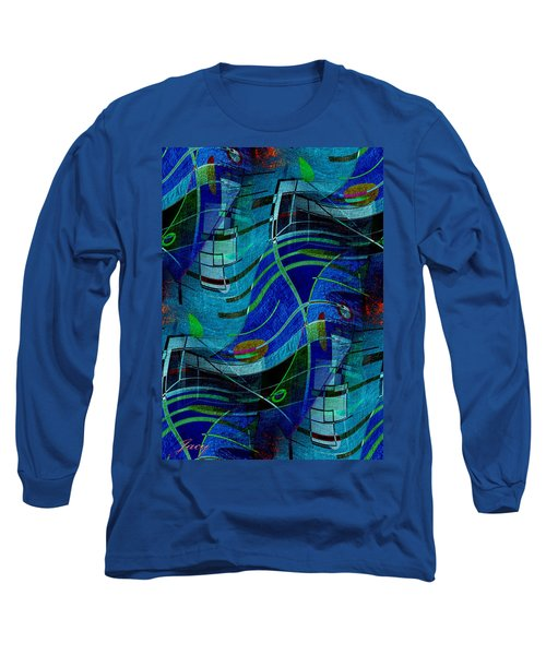 Long Sleeve T-Shirt featuring the digital art Art Abstract With Culture by Sheila Mcdonald