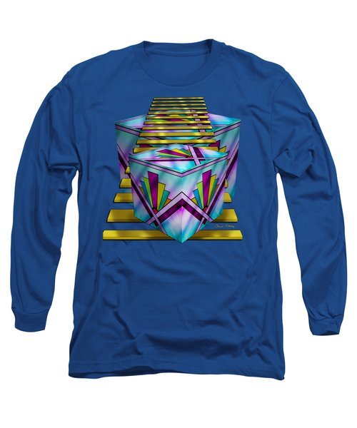 Art Deco Cubes - Transparent Long Sleeve T-Shirt by Chuck Staley