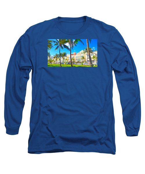 Long Sleeve T-Shirt featuring the painting Art Deco Style by Judy Kay