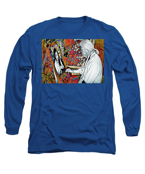 Artist In Abstract Long Sleeve T-Shirt by Ian Gledhill