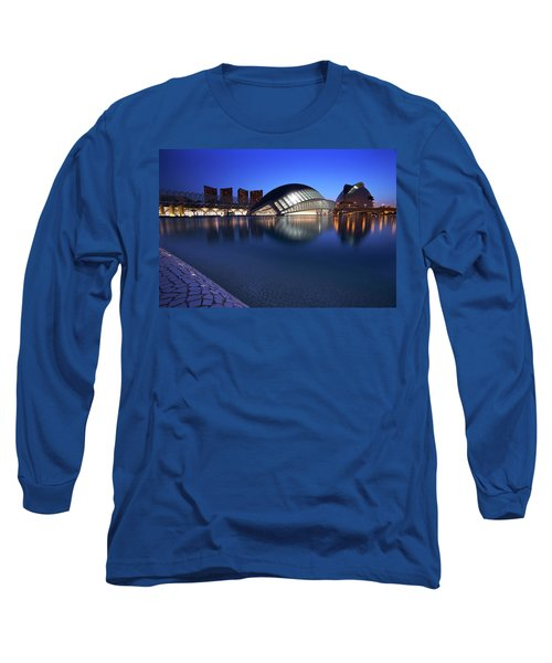 Arts And Science Museum Valencia Long Sleeve T-Shirt by Graham Hawcroft pixsellpix