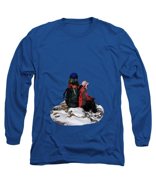 Long Sleeve T-Shirt featuring the photograph Himalayan Porter, Nepal by Aidan Moran