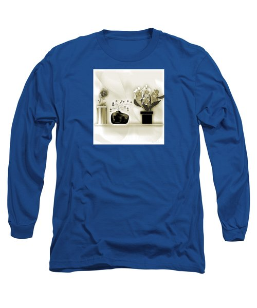Vase 3 Long Sleeve T-Shirt by Iris Gelbart