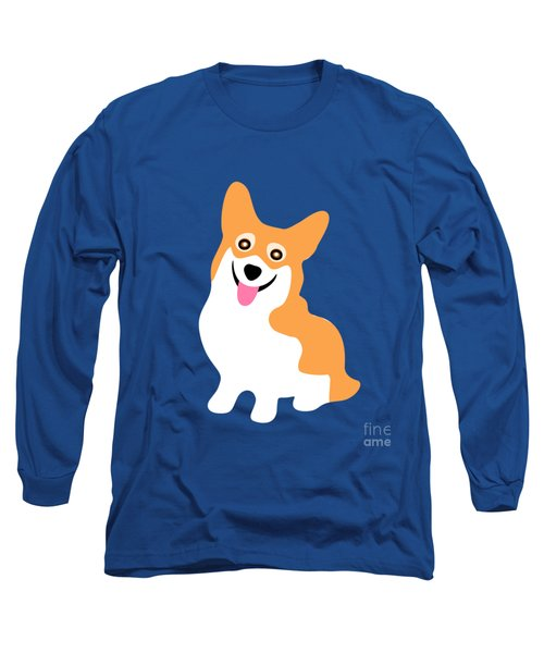 Smiling Corgi Pup Long Sleeve T-Shirt