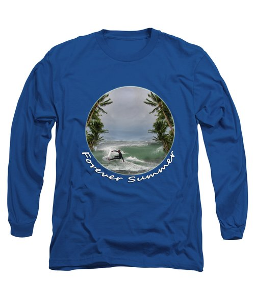 Long Sleeve T-Shirt featuring the photograph Forever Summer 2 by Linda Lees
