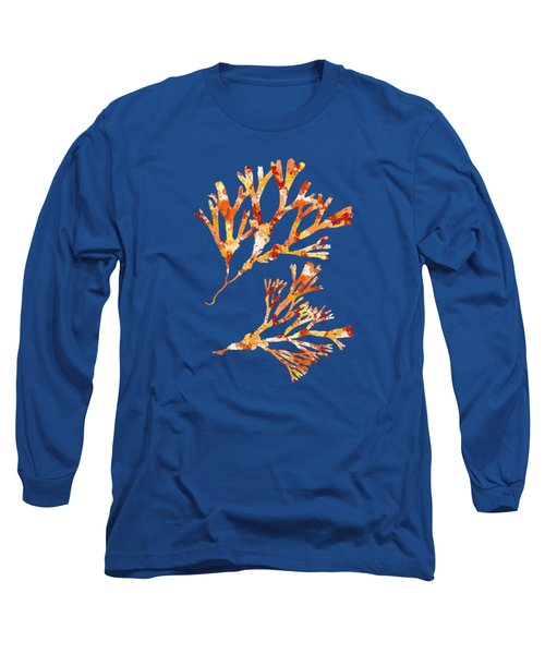 British Algae Abstract Fucus Vesiculosus Long Sleeve T-Shirt